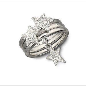 Brand New! Swarovski stackable star rings